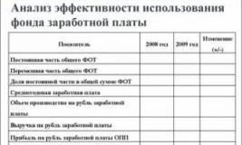 Анализ использования фонда заработной платы на примере