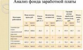 Анализ фонда оплаты труда в бюджетном учреждении