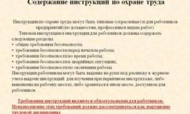 Инструкция по охране труда для рабочего тока
