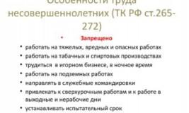 Охрана труда несовершеннолетних по Трудовому Кодексу РФ
