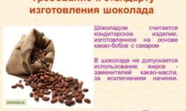 Требования к продаже шоколада