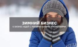 Зимний бизнес без вложений