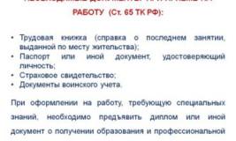 Что нужно для оформления по ТК РФ?