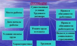 Существенные условия трудового договора ТК РФ