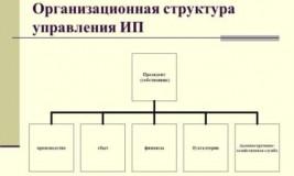 Структурное подразделение сотрудника ИП